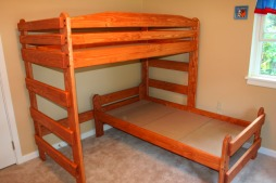 Paul Bunyan L Shaped Bed Configuration Salem Maple Stain
